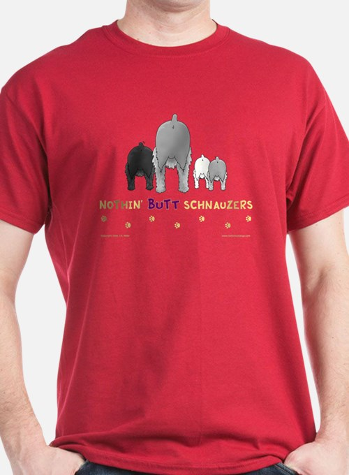 Nothin' Butt Schnauzers Red T-Shirt