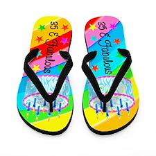 FESTIVE 35TH Flip Flops