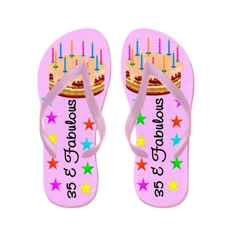 TERRIFIC 35TH Flip Flops