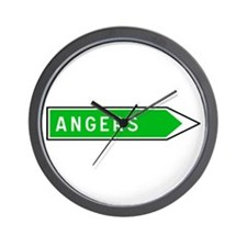 Roadmarker Angers - France Wall Clock