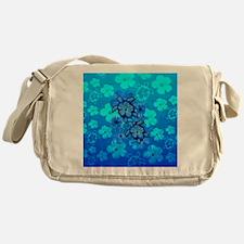 Blue Honu Hibiscus Messenger Bag