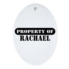Property of Rachael Oval Ornament