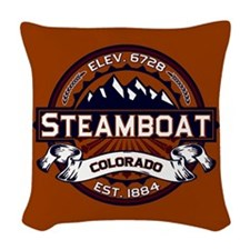 Steamboat Vibrant Woven Throw Pillow
