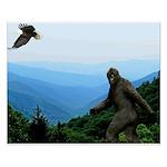 Bigfoot Great Smoky Mountains Small Poster