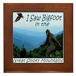 Bigfoot Great Smoky Mountains Framed Tile