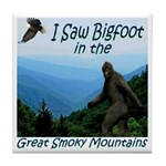 Bigfoot Great Smoky Mountains Tile Coaster