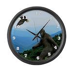 Bigfoot Great Smoky Mountains Large Wall Clock