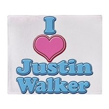 I Heart Justin Walker 2 Throw Blanket