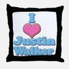 I Heart Justin Walker 2 Throw Pillow