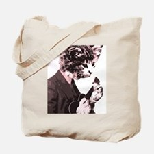 Cat Music Style Tote Bag