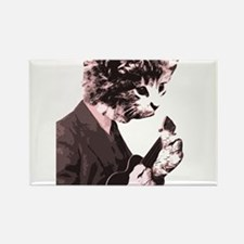 Cat Music Style Rectangle Magnet