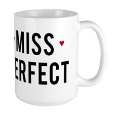 Miss Perfect text design with red hearts Mug