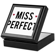 Miss Perfect text design with red hearts Keepsake