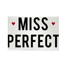 Miss Perfect text design with red hearts Rectangle