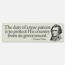 Paine on Patriotism Bumper Bumper Bumper Sticker