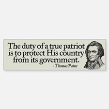 Paine on Patriotism Bumper Bumper Bumper Sticker