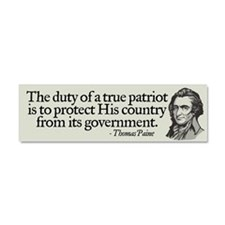 Paine on Patriotism Car Magnet 10 x 3