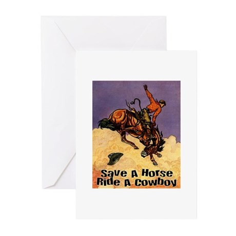 Ride A Cowboy Greeting Cards (Pk of 10)