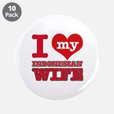 "I love my Indonesian Wife 3.5"" Button (10 pack)"