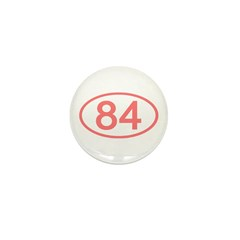 Number 84 Oval Mini Button (100 pack)