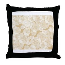 SAND DOLLAR COLLAGE Throw Pillow