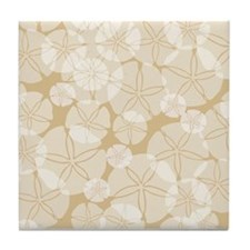 SAND DOLLAR COLLAGE Tile Coaster