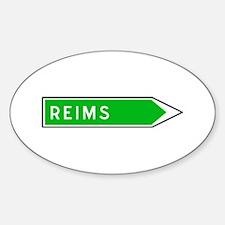Roadmarker Reims - France Oval Bumper Stickers