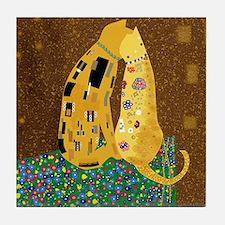 Klimt's Kats Tile Coaster