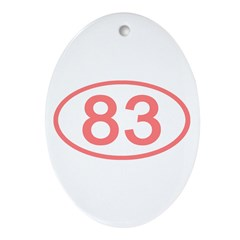 Number 83 Oval Oval Ornament