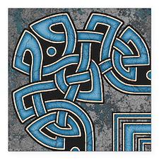 Celtic Border B Tile Blue Corner Section Magnet