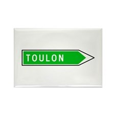 Roadmarker Toulon - France Rectangle Magnet (10 pa