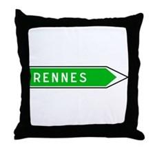 Roadmarker Rennes - France Throw Pillow