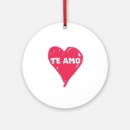 te amo ornament (round)
