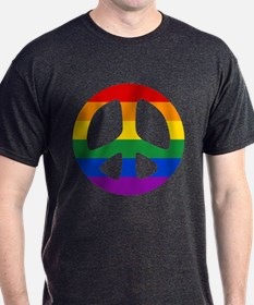 Rainbow Flag Peace T-Shirt