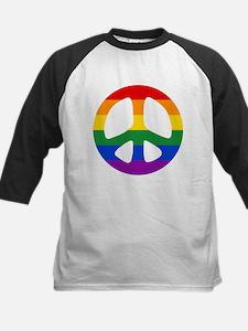 Rainbow Flag Peace Kids Baseball Jersey