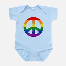 Rainbow Flag Peace Infant Bodysuit