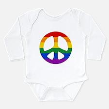 Rainbow Flag Peace Long Sleeve Infant Bodysuit