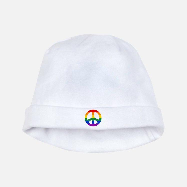 Rainbow Flag Peace baby hat