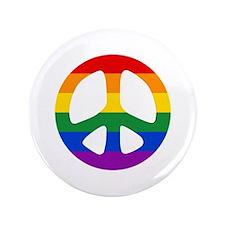 """Rainbow Flag Peace 3.5"""" Button"""