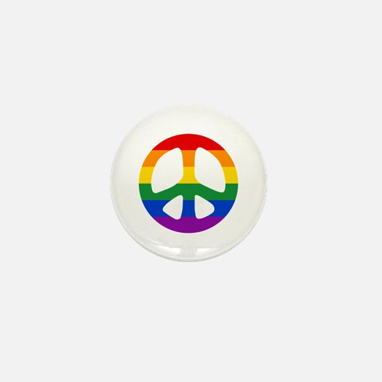 Rainbow Flag Peace Mini Button