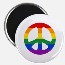 Rainbow Flag Peace Magnet