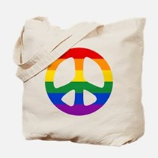 Rainbow Flag Peace Tote Bag