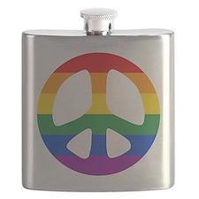 Rainbow Flag Peace Flask