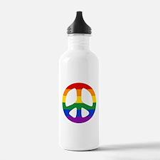 Rainbow Flag Peace Water Bottle