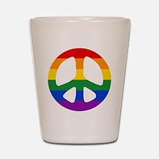 Rainbow Flag Peace Shot Glass