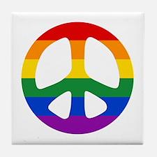 Rainbow Flag Peace Tile Coaster