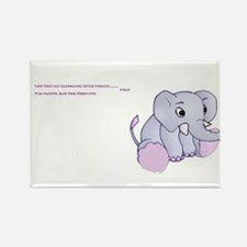 fibro elephant Rectangle Magnet