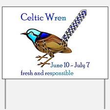 Celtic Wren Yard Sign