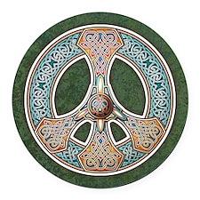 Celtic Peace Symbol Round Car Magnet
