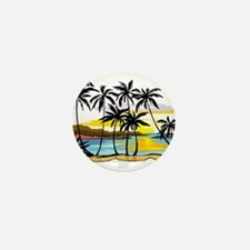 TROPICAL SUNSET Mini Button